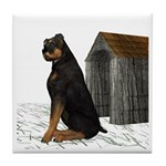 Dog (Rottweiler) Tile Coaster