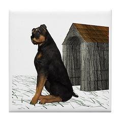 Dog (Rottweiler) Tile Coaster