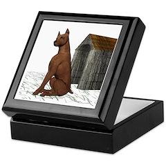 Dog (Min Pin) Keepsake Box