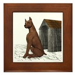Dog (Min Pin) Framed Tile