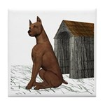 Dog (Min Pin) Tile Coaster