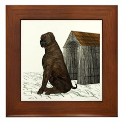 Dog (Mastiff) Framed Tile