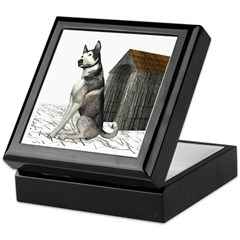 Dog (Malamute) Keepsake Box