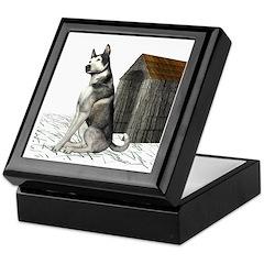 Dog (Malamute) Keepsake Box