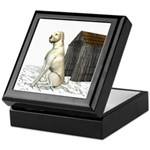 Dog (Yellow Labrador) Keepsake Box