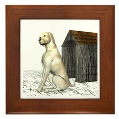 Dog (Yellow Labrador) Framed Tile