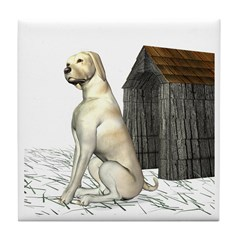 Dog (Yellow Labrador) Tile Coaster