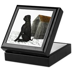 Dog (Black Labrador) Keepsake Box