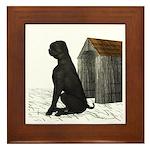 Dog (Black Labrador) Framed Tile