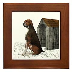 Dog (Hound Brown N Tan) Framed Tile