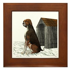 Dog (Hound Brown N Tan) Framed Tile
