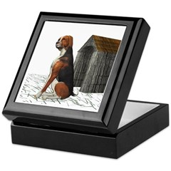 Dog (Hound Black N Tan) Keepsake Box