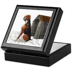 Dog (Hound Black N Tan) Keepsake Box