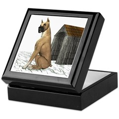 Dog (Great Dane) Keepsake Box