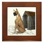 Dog (Great Dane) Framed Tile