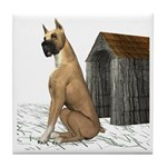 Dog (Great Dane) Tile Coaster