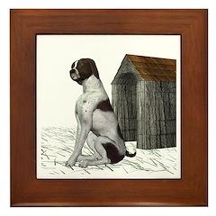 Dog (German Shorthaired) Framed Tile