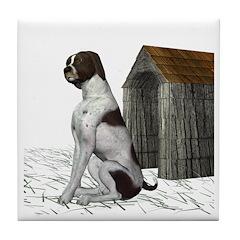 Dog (German Shorthair) Tile Coaster