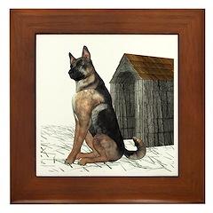 Dog (German Shepherd) Framed Tile