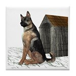 Dog (German Shepherd) Tile Coaster