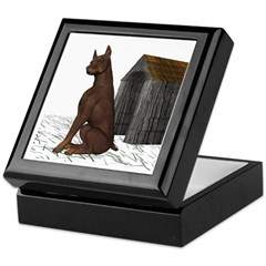 Dog (Red Doberman) Keepsake Box