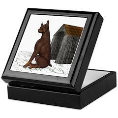 Dog (Red Doberman) Keepsake Box