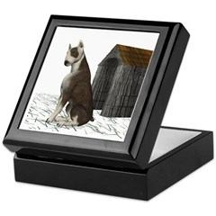 Dog (Bull Terrior) Keepsake Box