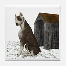 Dog (Bull Terrior) Tile Coaster