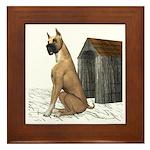 Dog (Boxer) Framed Tile