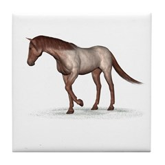 Horse (Straberry Roan) Tile Coaster