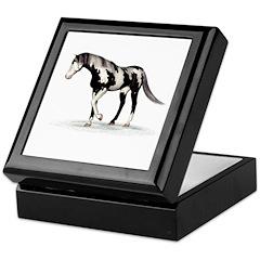 Horse (Piebald) Keepsake Box