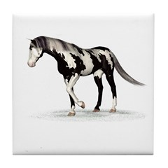 Horse (Piebald) Tile Coaster