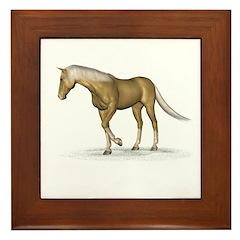 Horse (Palomino) Framed Tile