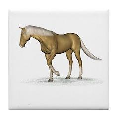 Horse (Palomino) Tile Coaster