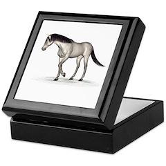 Horse (Grey) Keepsake Box