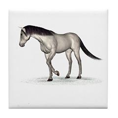 Horse (Grey) Tile Coaster
