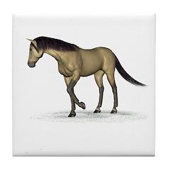 Horse (Dun) Tile Coaster