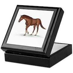 Horse (Chestnut) Keepsake Box