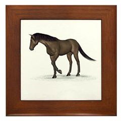 Horse (Brown) Framed Tile