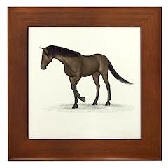 Horse (Brown) Framed Tile