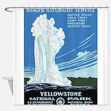 Yellowstone Old Faithful Travel Shower Curtain