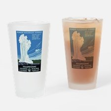 Yellowstone Old Faithful Travel Drinking Glass