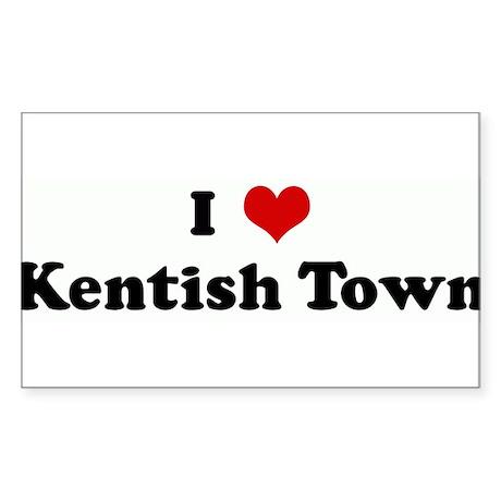 I Love Kentish Town Rectangle Sticker