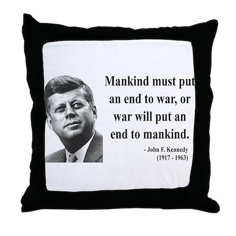 John F. Kennedy 2 Throw Pillow