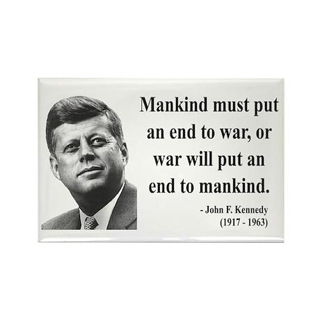 John F. Kennedy 2 Rectangle Magnet