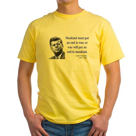 John F. Kennedy 2 Yellow T-Shirt