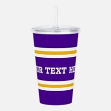 Purple and Gold Sports Acrylic Double-wall Tumbler