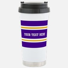Purple and Gold Sports Stainless Steel Travel Mug