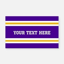 Purple and Gold Sports Stripe Rectangle Car Magnet