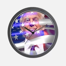 trump 2016 Wall Clock